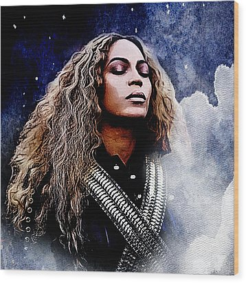 Beyonce  Wood Print by The DigArtisT