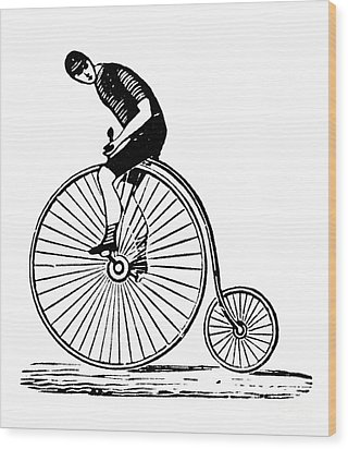 Bicycling Wood Print by Granger