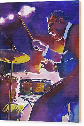 Big Band Ray Wood Print by David Lloyd Glover