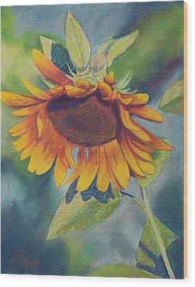 Big Sunflower Wood Print by Billie Colson