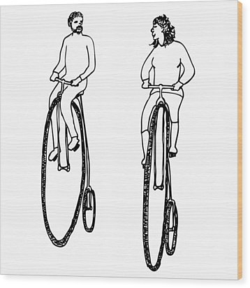Bike Buddies Wood Print by Karl Addison