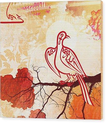 Bird Of Glory 1 Wood Print by Misha Maynerick