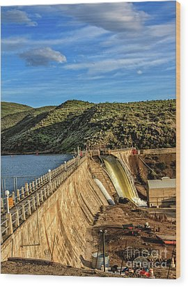Wood Print featuring the photograph Black Canyon Dam by Robert Bales