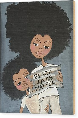 Black Lives Matter Wood Print