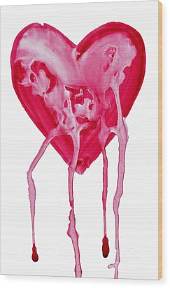 Bleeding Heart Wood Print by Michal Boubin
