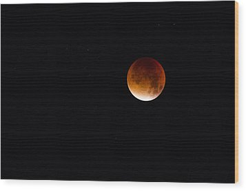 Blood Moon Super Moon 2015 Wood Print