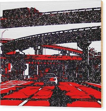 Bloody95 Wood Print by Jason Charles Allen