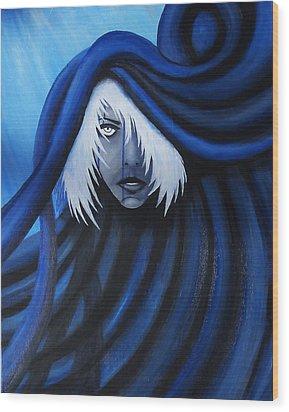 Blue Wood Print by Edwin Alverio
