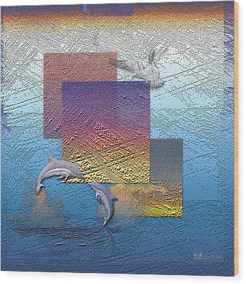 Blue Lagoon Sunrise  Wood Print