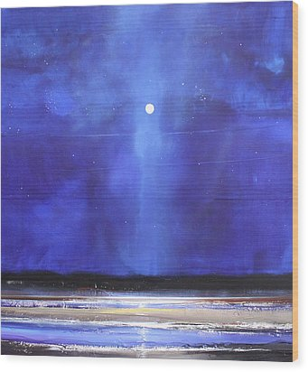 Blue Night Magic Wood Print by Toni Grote
