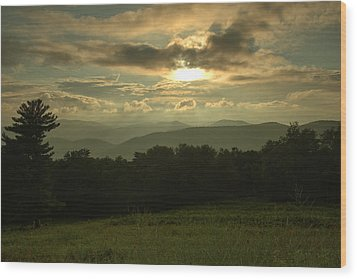 Wood Print featuring the photograph Blue Ridge Mountain Sunset by Stephen  Vecchiotti