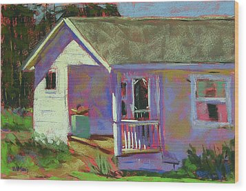 Blue Willow Farmers House Wood Print by Mary McInnis