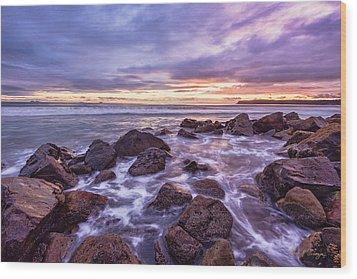 Blueberry Sea Wood Print