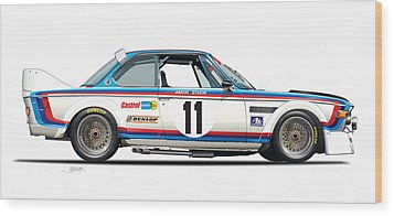 Bmw 3.0 Csl Chris Amon, Hans Stuck Wood Print