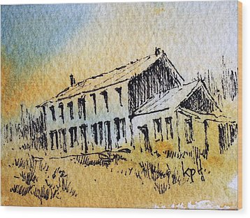 Boardinghouse Cable Ghost Town Montana Wood Print by Kevin Heaney