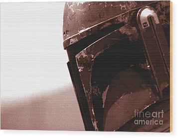 Wood Print featuring the photograph Boba Fett Helmet 32 by Micah May
