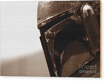 Wood Print featuring the photograph Boba Fett Helmet 33 by Micah May