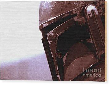 Wood Print featuring the photograph Boba Fett Helmet 34 by Micah May