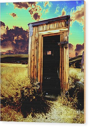 Bodie Outhouse Wood Print