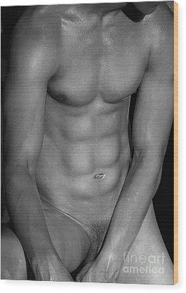 Body Art Wood Print by Mark Ashkenazi