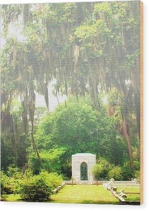 Bonaventure Cemetery Savannah Ga Wood Print by William Dey
