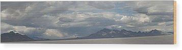 Wood Print featuring the photograph Bonneville Salt Flats by Daniel Hebard