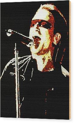 Bono Wood Print by Grant Van Driest