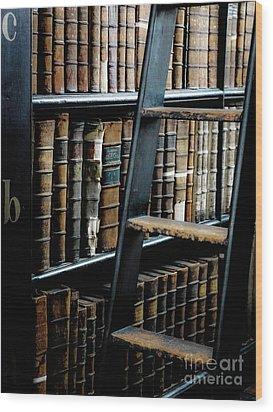 Books Of Knowledge 7 Wood Print