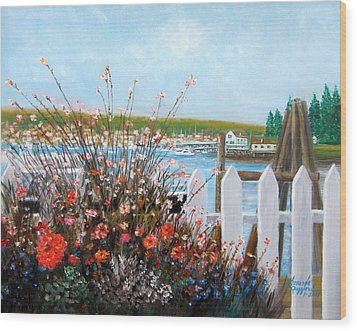 Boothbay Harbor Maine Wood Print
