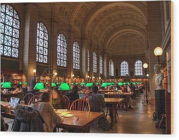 Wood Print featuring the photograph Boston Public Library by Joann Vitali