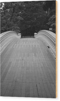 Bow Bridge Central Park Wood Print by Christopher Kirby
