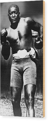 Boxer Jack Johnson, Ca. 1910s Wood Print by Everett