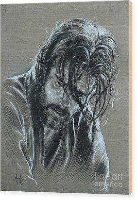 Brad Pitt Wood Print by Anastasis  Anastasi