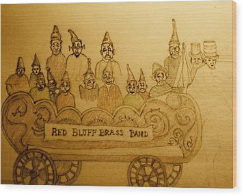 Brass Band Wood Print by Lee M Plate