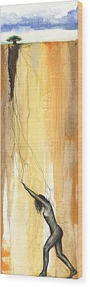 Breaking Out Wood Print by Anthony Burks Sr