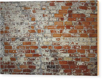 Brick Wall Wood Print by Les Cunliffe