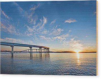 Bridge Sunrise Wood Print