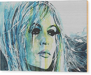 Brigitte Bardot Wood Print by Paul Lovering