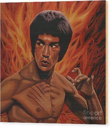Bruce Lee Enter The Dragon Wood Print