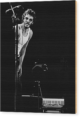Wood Print featuring the photograph Bruce Springsteen 1975 by Chris Walter