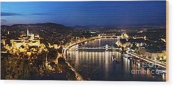 Budapest. View From Gellert Hill Wood Print