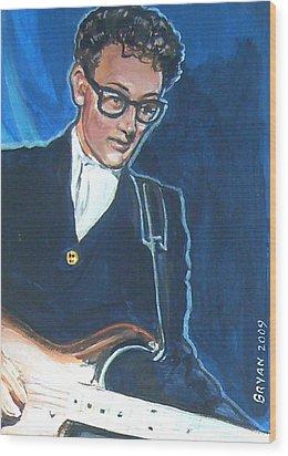 Buddy Holly Wood Print