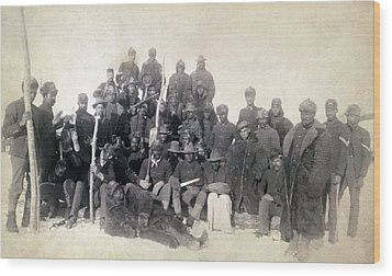 Buffalo Soldiers Of The 25th Infantry Wood Print by Everett