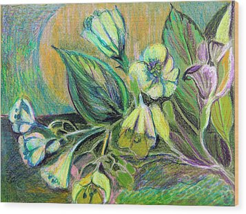 Buttercups Wood Print by Mindy Newman