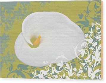 Calla Lily Wood Print by Cathie Tyler