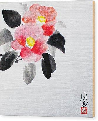 Camellia / Tsubaki Wood Print