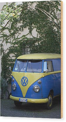 Camper Van Wood Print