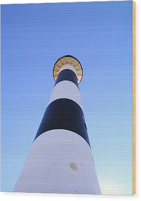 Canaveral Light Wood Print by Allan  Hughes