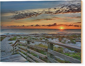 Canaveral Sunrise Wood Print
