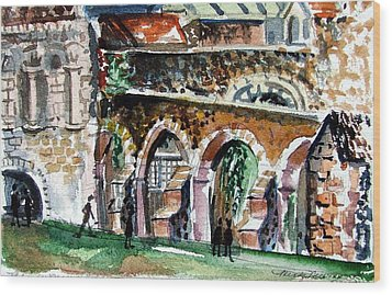 Canterbury England Cloisters Wood Print by Mindy Newman
